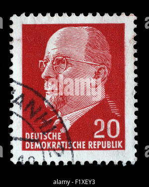Stamp printed in GDR shows Walter Ulbricht, circa 1961 - Stock Photo