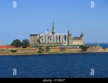 Kronborg castle in Helsingør, Denmark - Stock Photo