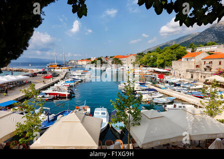 Harbor of Bol town on island Brac, Croatia. - Stock Photo