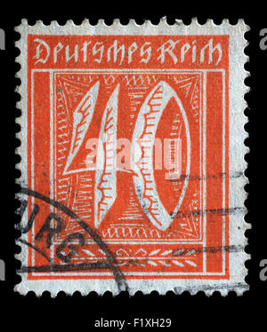 Postage stamp printed in Germany shows numeric value, circa 1921. - Stock Photo