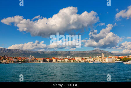 Skyline of Split, Dalmatia, Croatia. - Stock Photo