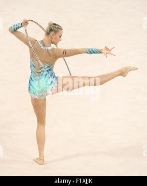 Stuttgart, Germany. 8th Sep, 2015. Nicol Ruprecht of Austria in action during the Gymnastics World Championships - Stock Photo