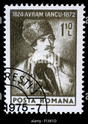 Stamp printed in Romania shows Avram Iancu, circa 1974 - Stock Photo