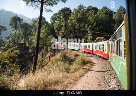 Shimla, Himachal Pradesh, India. The Himalayan Queen, the Toy Train from Shimla to Kalka. - Stock Photo
