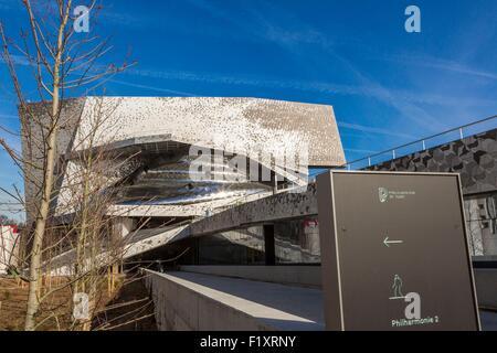 france paris the philarmonie de paris by the architecte jean stock photo 79393697 alamy. Black Bedroom Furniture Sets. Home Design Ideas