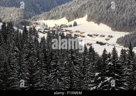 France, Haute Savoie, Le Grand Bornand, Chinaillon hamlet (1300m) - Stock Photo