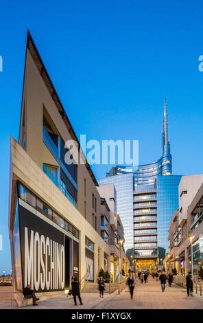 Italy, Lombardy, Milan, Porta Nuova, the new business district built between 2009 and 2015 by architects as Cesar - Stock Photo