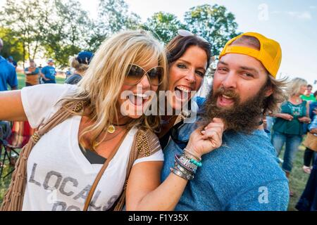 United States, Mississippi, Greenville, Mighty Mississippi Music festival - Stock Photo