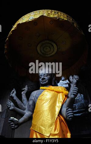 Cambodia, Siem Reap province, Angkor listed as World Heritage by UNESCO, Buddha statue with many arms at Angkor - Stock Photo