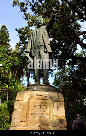 South Africa, Western Cape, Cape Town, City Bowl, Company's Gardens, Cecil John Rhodes statue - Stock Photo