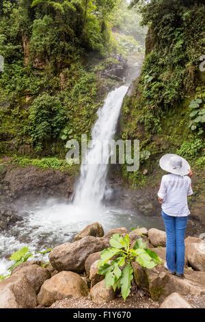 Costa Rica, Alajuela province, Poas Volcano National Park, La Paz Waterfall - Stock Photo