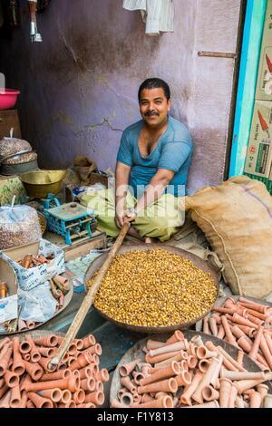 India, Rajasthan state, Nagaur, the main market - Stock Photo