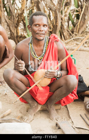 Africa,Music,Tribe,Real People,Datoga - Stock Photo