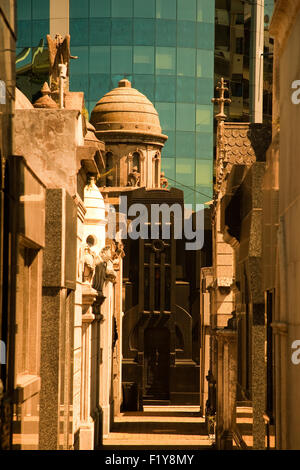 La Recoleta Cemetery, Buenos Aires, Argentian, South America. Located in the middle of a modern city. - Stock Photo