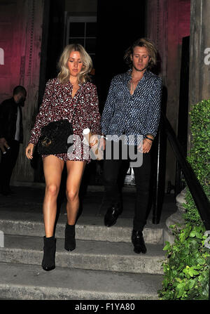 Celebrities attend Years & Years VIP Album Launch Party In Association With ASOS. London. UK  Featuring: Ellie Goulding, - Stock Photo