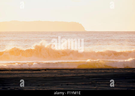 Beach,Hawaii,Kauai,Scenic,Barking Sands Beach - Stock Photo