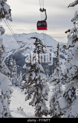 Canada,Scenic,Cable Car,Blackcomb Mountain - Stock Photo
