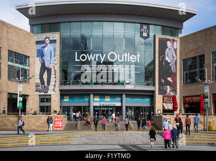 Lowry Outlet shopping centre  at Salford Quays, Manchester, England. UK - Stock Photo