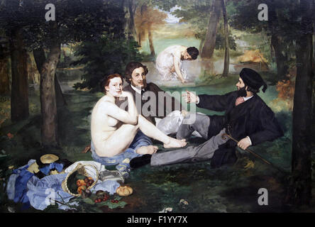 Lunch on the Grass, Le déjeuner sur l'herbe 1863 by Edouard Manet 1832-1883 - Stock Photo