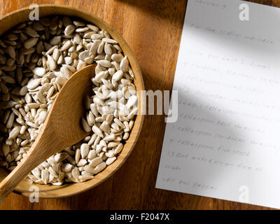 Sunflower Seed in bowl - Stock Photo