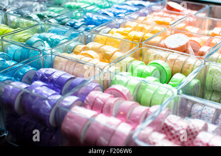 Many colors with tape rolls - Stock Photo