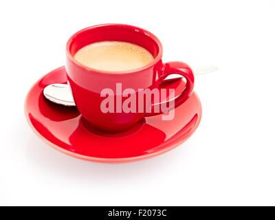 rote Espressotasse - Stock Photo