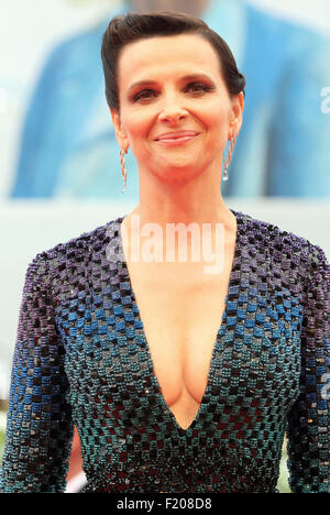 Venice, Italy. 5th September, 2015. Juliette Binoche actress in 'L'attesa' (director Piero Messina)at the red carpet - Stock Photo