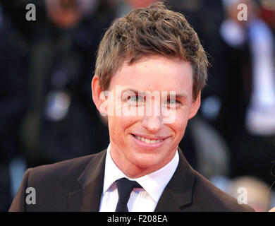 Venice, Italy. 5th September, 2015. Actor Eddie Redmayne at the red carpet of the movie 'The Danish Girl'  at the - Stock Photo