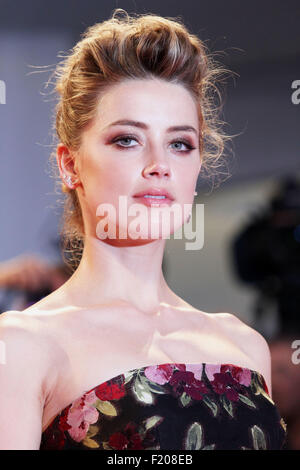 Amber Heard at the red carpet of the movie 'The Danish Girl'  at the 72nd Venice International Film Festival on - Stock Photo