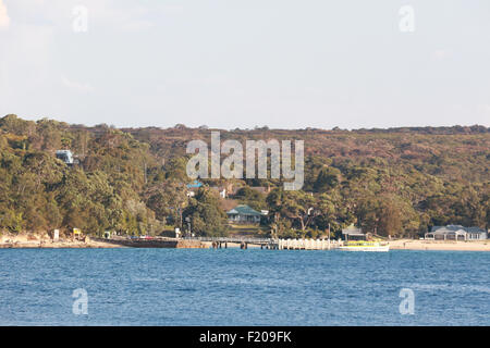 View looking towards Bundeena from South Cronulla in Sydney, Australia. - Stock Photo