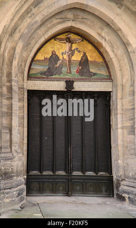 Germany Saxony Anhalt Lutherstadt Wittenberg The Schlosskirche or Castle Church also known as All Saints Church - Stock Photo