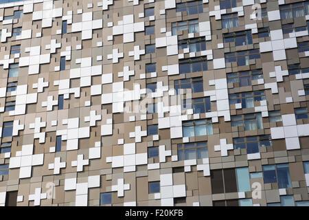 Exterior of The Cube, Birmingham, West Midlands, England, United Kingdom, Europe - Stock Photo