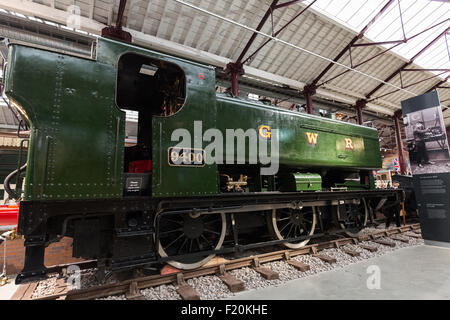 Great Western Railway 9400 is a 0-6-0 pannier tank steam locomotive used for shunting and banking duties. Swindon - Stock Photo