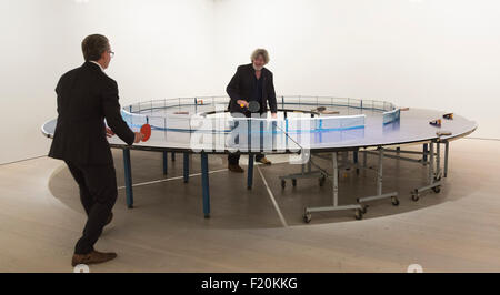 London, UK. 9 September 2015. Ping Pong Go-Round, 2013, installation by Lee Wen from Singapore.  Press preview of - Stock Photo