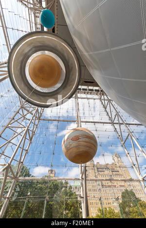 The Hayden Planetarium in the Museum of Natural History, Manhattan, New York City. - Stock Photo
