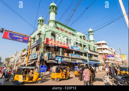 India, Tamil Nadu state, Madurai, mosque in Town Hall road - Stock Photo