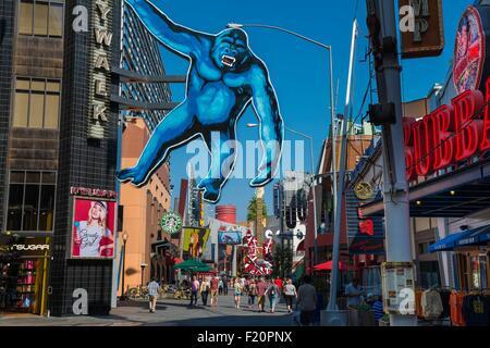 United States, California, Los Angeles, Hollywood, Universal Studios, the City Walk - Stock Photo