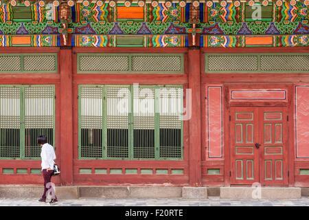 South Korea, Seoul, Deoksugung Palace, the royal palace of the Joseon Dynasty, pavilion - Stock Photo