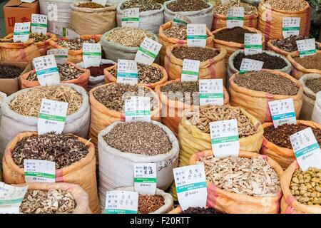 South Korea, Seoul, Dongdaemun-gu district, Gyeongdong Market is one of the largest markets for medicinal plants in the country
