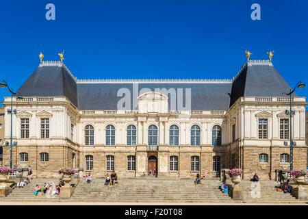 France, Ille et Vilaine, Rennes, Brittany Palace of Parliament (17th century) designed by architects Germain Gaultier - Stock Photo
