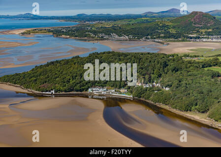 Aerial views of Portmeirion Village 1st August 2015 PHILLIP ROBERTS - Stock Photo