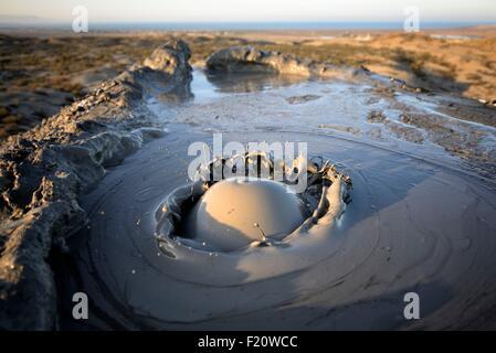 Azerbaijan, Qobustan, mud volcano - Stock Photo