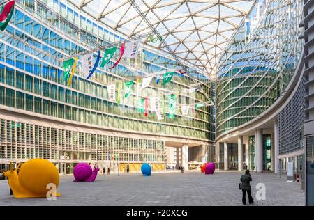 Italy, Lombardy, Milan, Palazzo Lombardia, Piazza Citta di Lombardia Cabinet architects Pei Cobb Freed and Partners, - Stock Photo
