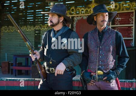 United States, Arizona, Tombstone, historic district, actors Woody and Andy - Stock Photo