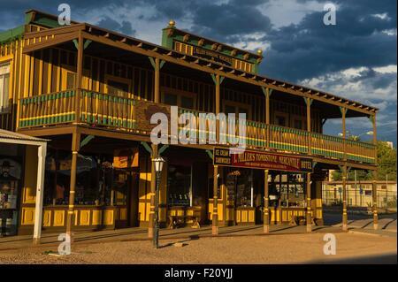United States, Arizona, Tombstone, historic district - Stock Photo