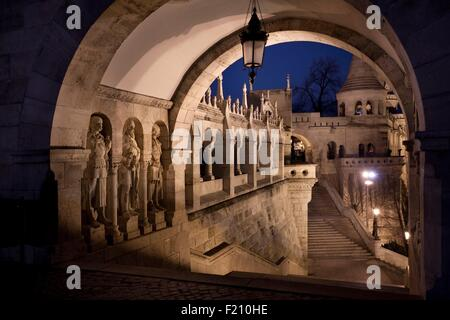 Hungary, Budapest, listed as World Heritage by UNESCO, Fisherman's Bastion - Stock Photo