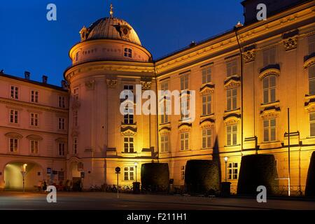 Austria, Tyrol, Innsbruck, Blue hour at the Imperial Palace - Stock Photo