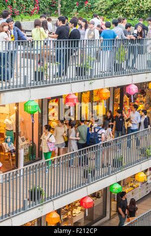South Korea, Seoul, Jongno-gu, Insadong neighborhood, Ssamziegil mall opened in 2004 - Stock Photo