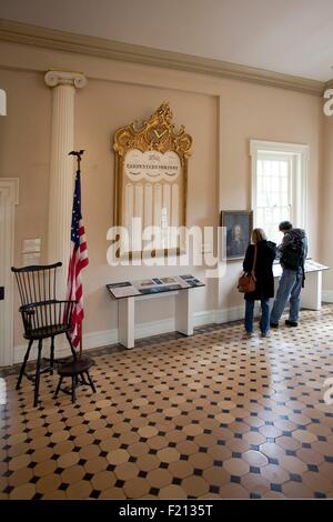 United States, Pennsylvania, Philadelphia, Independence National Historical Park, Carpenter's Hall - Stock Photo