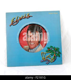 Elvis Presley vinyl record album picture disc Christmas record - Stock Photo